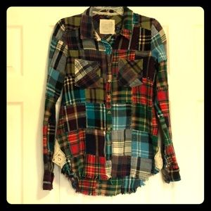 Free People We The Free 'Lost in plaid' flannel S
